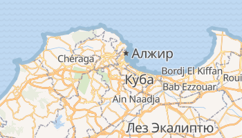 Алжир - детальная карта