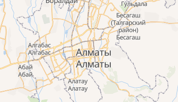 Алматы - детальная карта