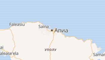 Апиа - детальная карта