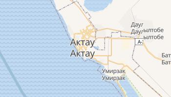 Актау - детальная карта