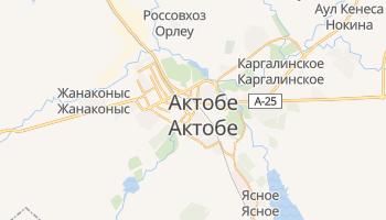 Актобе - детальная карта