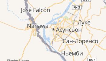 Асунсьон - детальная карта