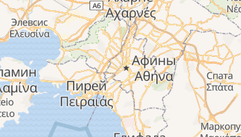 Афины - детальная карта