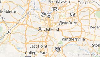 Атланта - детальная карта