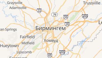 Бирмингем (USA) - детальная карта