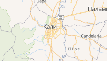 Кали - детальная карта