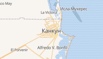 Канкун - детальная карта