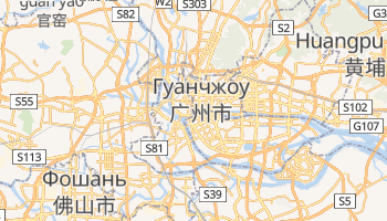 Гуанчжоу - детальная карта