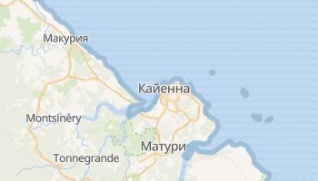 Кайенна - детальная карта