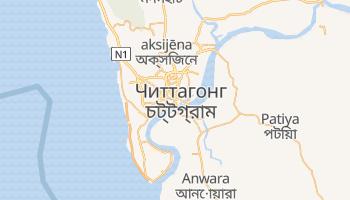 Читтагонг - детальная карта
