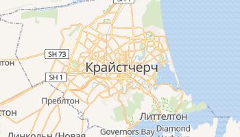 Крайстчерч - детальная карта