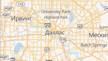 Даллас - детальная карта