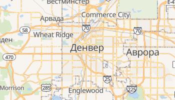 Денвер - детальная карта