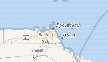 Джибути - детальная карта