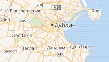 Дублин - детальная карта