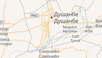 Душанбе - детальная карта
