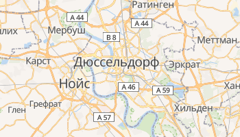 Дюссельдорф - детальная карта