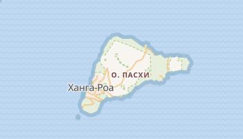 Остров Пасхи - детальная карта