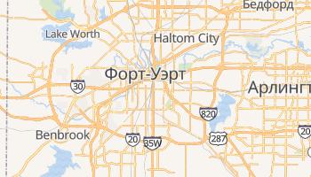 Форт-Уэрт - детальная карта
