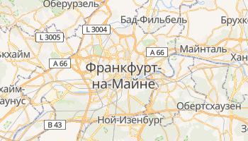 Франкфурт-на-Майне - детальная карта