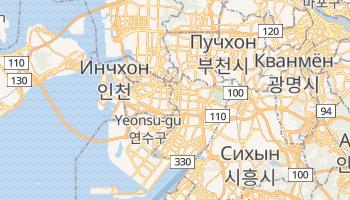 Инчхон - детальная карта