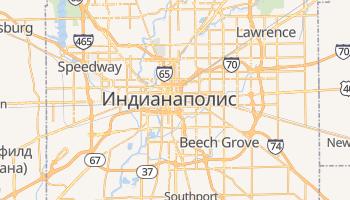 Индианаполис - детальная карта