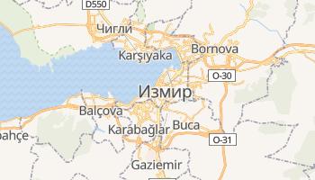 Измир - детальная карта