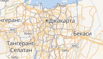 Джакарта - детальная карта
