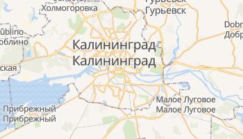 Калининград - детальная карта
