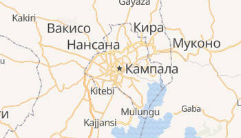 Кампала - детальная карта