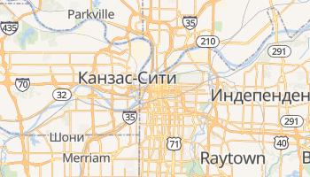 Канзас - детальная карта