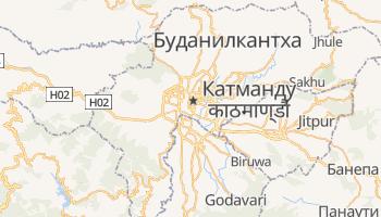 Катманду - детальная карта