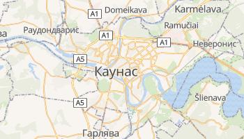 Каунас - детальная карта