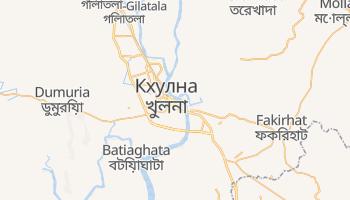 Кхулна - детальная карта