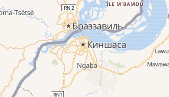 Киншаса - детальная карта