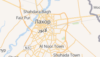 Лахор - детальная карта
