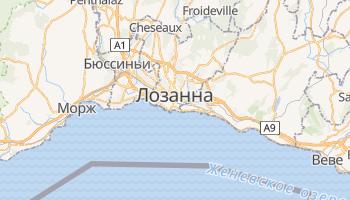 Лозанна - детальная карта