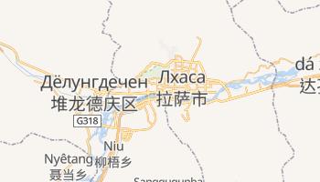 Лхаса - детальная карта