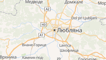 Любляна - детальная карта