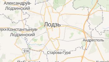 Лодзь - детальная карта