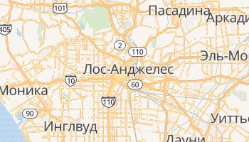 Лос-Анджелес - детальная карта