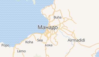 Манадо - детальная карта