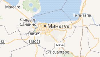 Манагуа - детальная карта