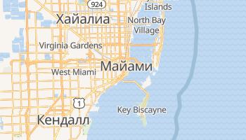 Майами - детальная карта