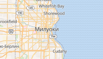 Милуоки - детальная карта