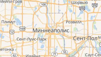 Миннеаполис - детальная карта