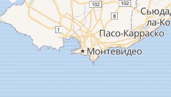 Монтевидео - детальная карта