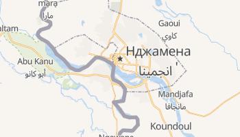 Нджамена - детальная карта