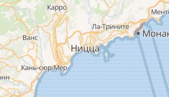Ницца - детальная карта