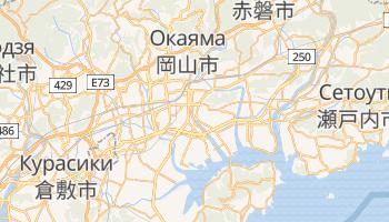 Окаяма - детальная карта